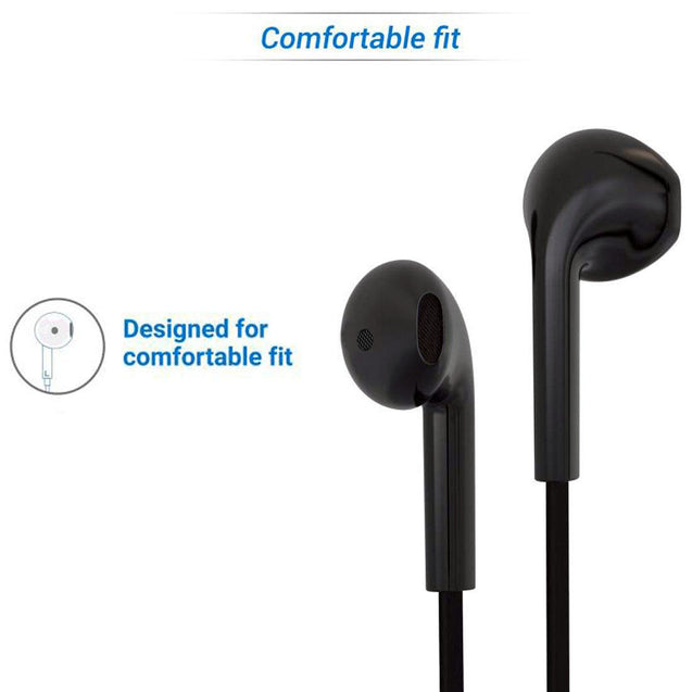 PTron Avento Bluetooth Headphones In-Ear Wireless Earphones With Mic For All Oppo Smartphones Black