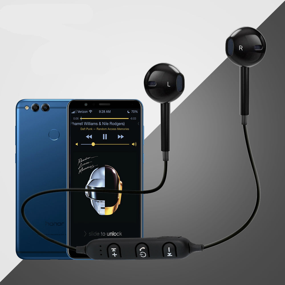 31f75e99db2 PTron Avento Bluetooth Headphones In-Ear Wireless Earphones With Mic For  Huawei Honor 7X (