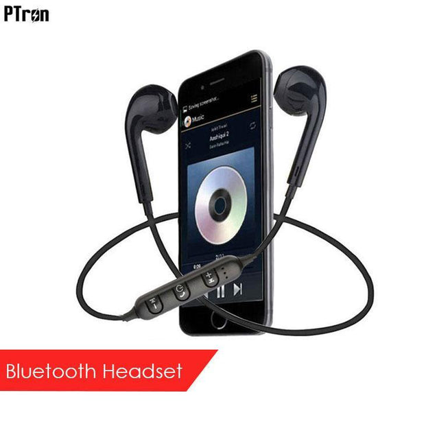 PTron Avento Bluetooth Headphones In-Ear Wireless Earphones For Huawei Honor V10 (Black)