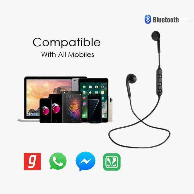 PTron Avento Bluetooth Headphones In-Ear Wireless Earphones With Mic For Xiaomi Redmi Note 4X Black
