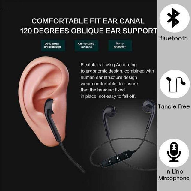 PTron Avento Bluetooth Headphones In-Ear Wireless Earphones With Mic For Xiaomi Redmi 3S (Black)