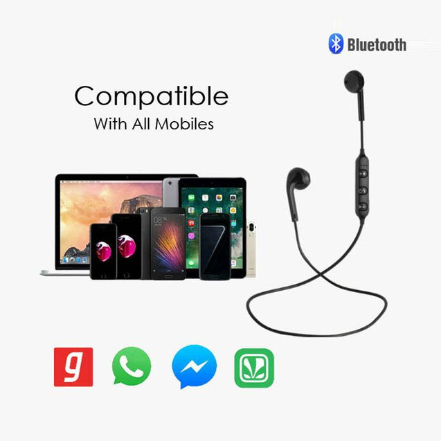 PTron Avento Bluetooth Headphones In-Ear Wireless Earphones With Mic For Xiaomi Redmi Y1 Lite Black