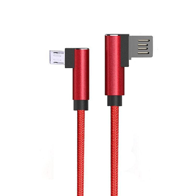 PTron Solero USB To Micro USB Data Cable With L Shape Design For All Android Smartphones (Red)