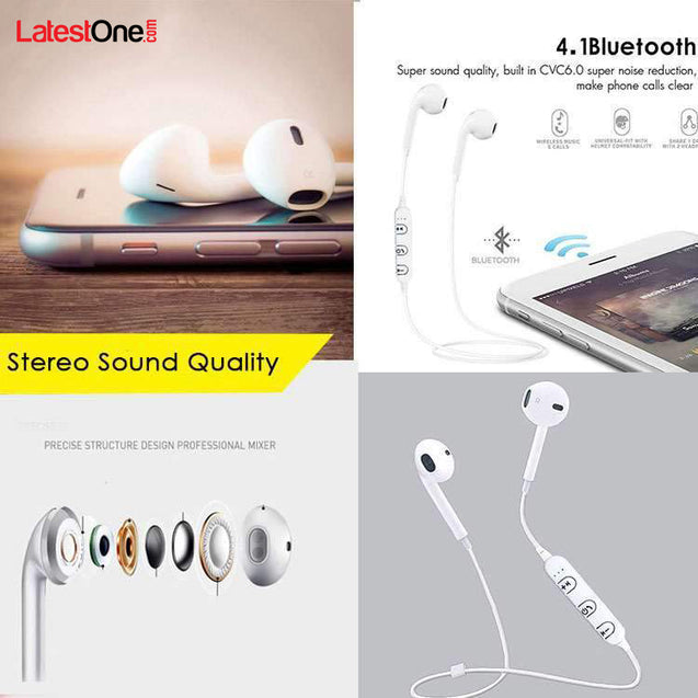 PTron Avento Bluetooth Headphones In-Ear Wireless Earphones With Mic For Huawei Honor 9 Lite (White)