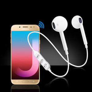 PTron Avento Bluetooth Headphones In-Ear Wireless Earphones With Mic For Samsung Galaxy J7 Pro White