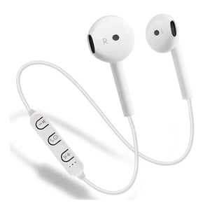 PTron Avento Bluetooth Headphones Wireless In-Ear Earphones With Mic For All Smartphones White