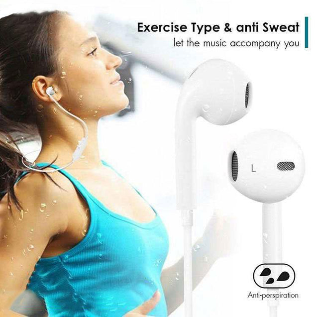 PTron Avento Bluetooth Headphones In-Ear Wireless Earphones With Mic For Huawei Honor 9 (White)