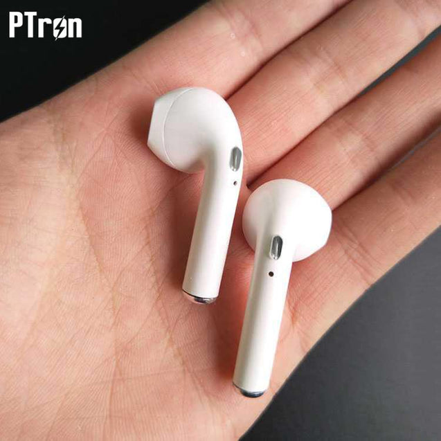 PTron Twins Bluetooth Earpods With Mic For All Vivo Smartphones (White)