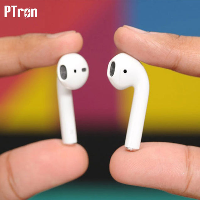 PTron Twins Bluetooth Earpods With Mic For All Xiaomi Smartphones (White)