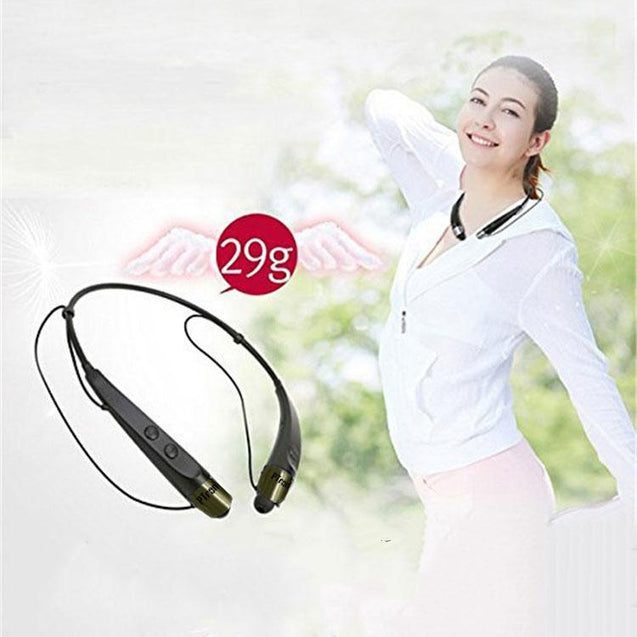 PTron Tangent Bluetooth Headset Stereo Wireless Headphone for All Xiaomi Smartphones (Black/Gold)