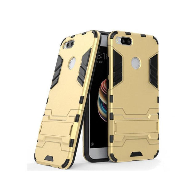 Xiaomi Redmi Mi A1 Back Cover Hybrid Shockproof Armor Hard Back Case (Gold)