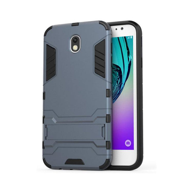 Samsung Galaxy J7 Pro Back Cover Hybrid Shockproof Armor Hard Back Case (Blue)