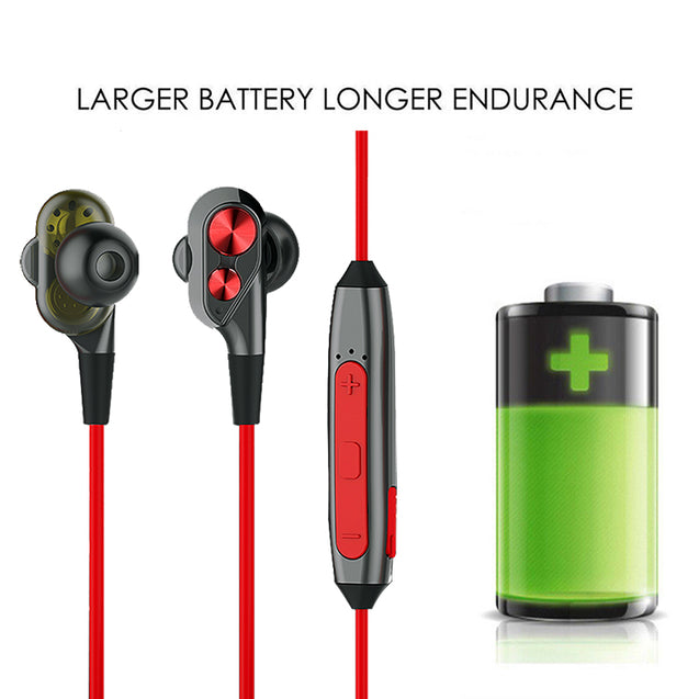 Refurbished- PTron BT Boom 4D Bluetooth Headphones With Mic For All Oneplus Smartphones (Red & Black)