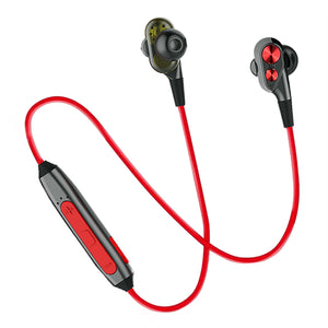 PTron BT Boom 4D Bluetooth Headphones With Mic For All Oppo Smartphones (Red & Black)
