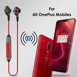 PTron BT Boom 4D Bluetooth Headphones With Mic For All Oneplus Smartphones (Red & Black)