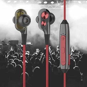 PTron BT Boom 4D Bluetooth Headphones With Mic For Samsung Galaxy J7 NXT (Red & Black)