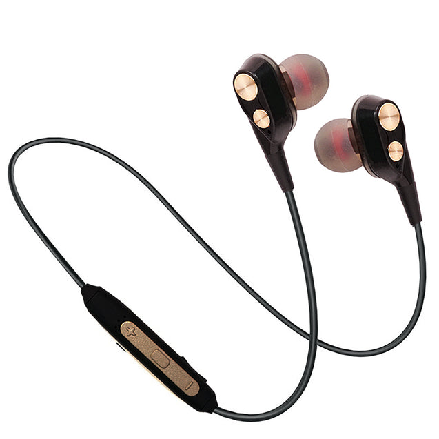 PTron BT Boom 4D Bluetooth Headphones With Mic For Huawei Honor 7X (Gold & Black)