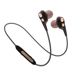 PTron BT Boom 4D Bluetooth Headphones With Mic For Huawei P20 lite (Gold & Black)