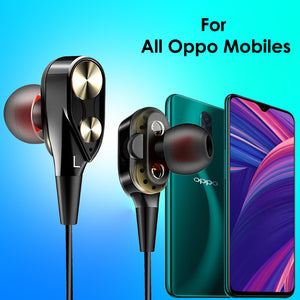 pTron Boom Evo 4D Earphone Deep Bass Stereo Wired Headphone For All Oppo Smartphones (Black/Gold)