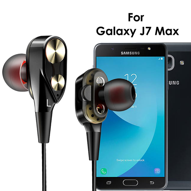 PTron Boom 2 4D Earphone Deep Bass Stereo Wired Headphone For Samsung Galaxy J7 Max (Black/Gold)