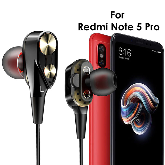PTron Boom 2 4D Earphone Deep Bass Stereo Wired Headphone With Mic For Redmi Note 5 Pro (Black/Gold)