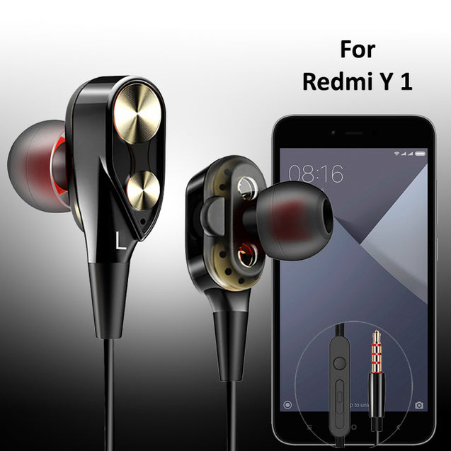 PTron Boom 2 4D Earphone Deep Bass Stereo Wired Headphone For Xiaomi Redmi Y1 Lite(Black/Gold)