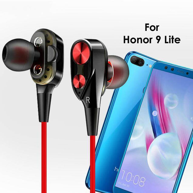 PTron Boom 2 4D Earphone Deep Bass Stereo Wired Headphone With Mic For Huawei Honor 9 Lite Black/Red