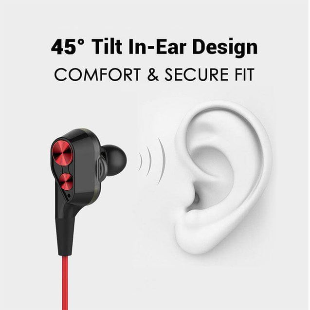 Boom 2 4D Earphone Deep Bass Stereo Wired Headphone With Mic For Xiaomi Redmi Y2 (Black/Red)