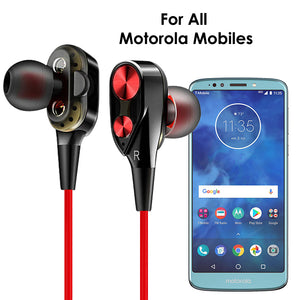PTron Boom Evo 4D Deep Bass Stereo Wired Headphone for All Motorola Smartphones (Black/Red)