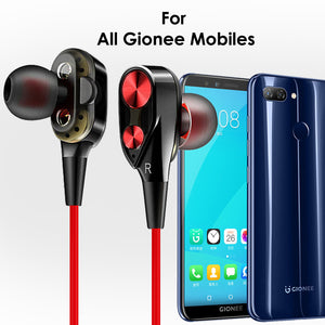 PTron Boom Evo 4D Earphone Deep Bass Stereo Wired Headphone For All Gionee Smartphones (Black/Red)