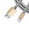 PTron Falcon 1.5 A Type C USB Metal Cable Data Sync Charger For All Smartphones (Gold)