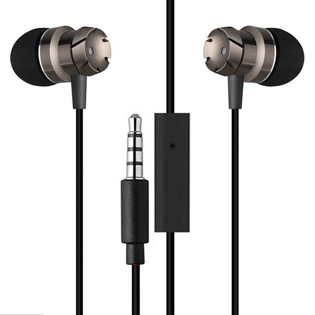 PTron HBE6 Earphone Metal Bass Headphone With Mic For All Smartphones (Black)