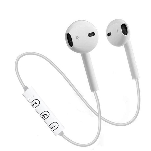 PTron Avento Bluetooth Headphones In-Ear Wireless Earphones With Mic For Huawei Honor 7X (White)