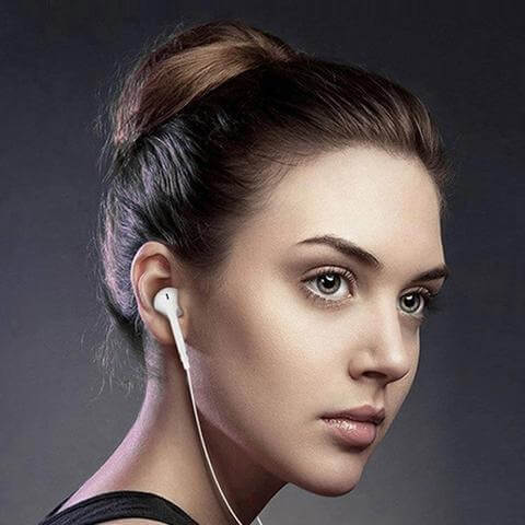 Dazon Lancer 4.1 Bluetooth Headphones In-Ear Wireless Earphones For All Smartphones (White)