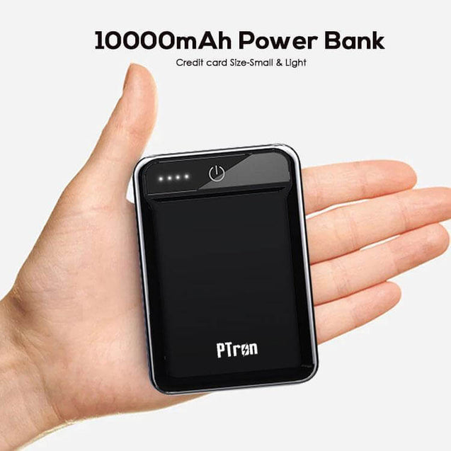 PTron 10000mAh Dynamo Power Bank For All Smartphones (Black)