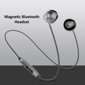 PTron InTunes Magnetic Bluetooth Headset With Mic For All Smartphones (Grey/Black)