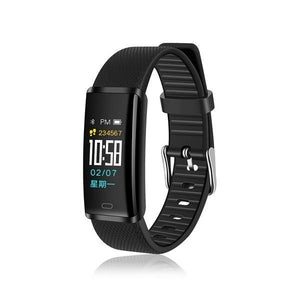 PTron Pulse Fitness Tracker Watch Band With Heart Rate Blood Pressure For All Smartphones (Black)