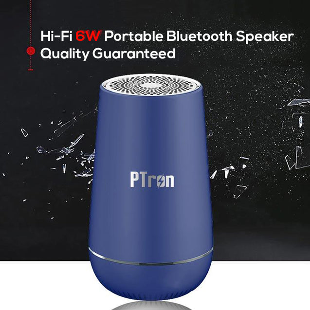 PTron Sonor Pro 4.2V Bluetooth Speaker 6W 360 Degree Surround Sound Wireless Speaker (Blue)