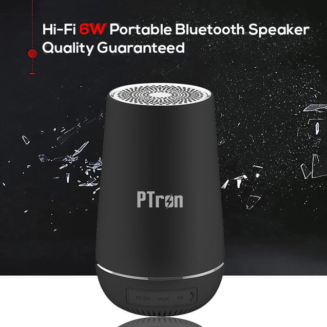 PTron Sonor Pro 4.2V Bluetooth Speaker 6W 360 Degree Surround Sound Wireless Speaker (Black)