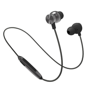 PTron InTunes Pro Magnetic Bluetooth Headset With Mic For All Smartphones (Grey/Black)