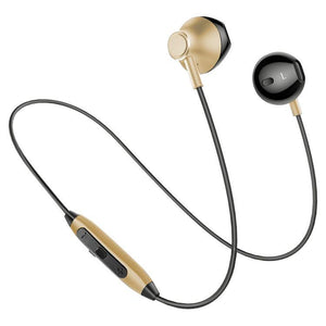 PTron InTunes Pro Magnetic Bluetooth Headset With Mic For All Smartphones (Gold/Black)