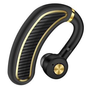 PTron Eleganto Bluetooth V5.0 CSR Chipset Mono Earphones With Mic For All Smartphones (Black/Gold)