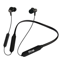 PTron Zap Bluetooth 5.0 In-Ear  Magnetic Deep Bass Neckband With Mic For All Smartphones (Black)