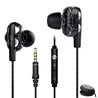 pTron Boom Pro 4D Deep Bass Dual Driver Wired Headphones with Mic - (Black)
