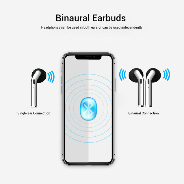 pTron Bassbuds Classic In-Ear True Wireless Stereo Earbuds, 12Hrs Playback with Case & Mic - (Black)