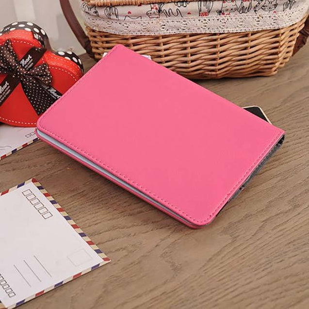 PTron Full 360 Rotating Stand Cover Case for Apple iPad Air iPad 5 Hot Pink