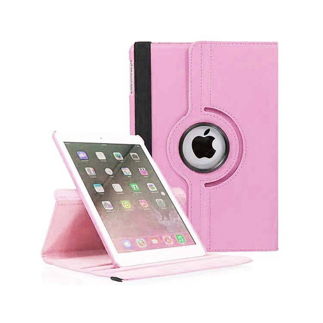 PTron Full 360 Rotating Stand Cover Case for Apple iPad Air iPad 5 Light Pink