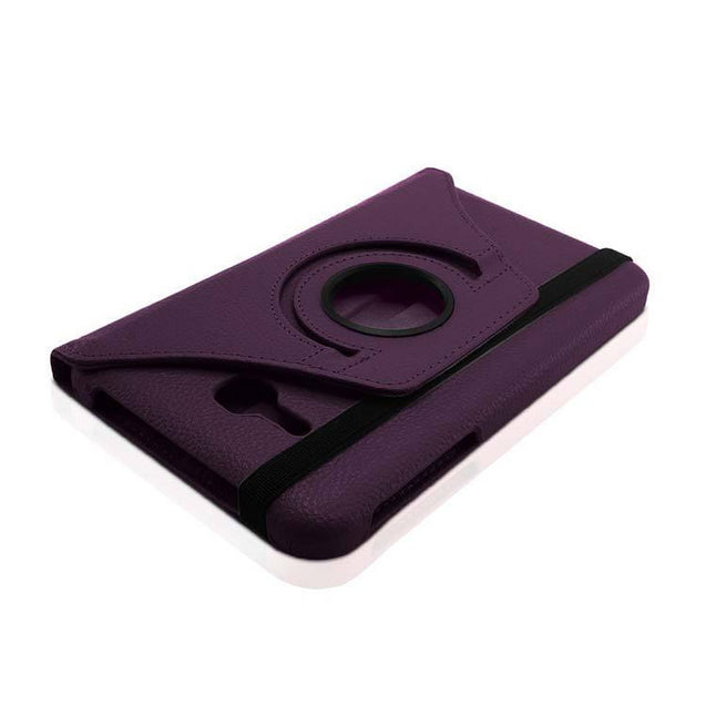 PTron Full 360 Rotating Stand Cover Case for Samsung Galaxy TAB 3 Neo T111 Dark Purple