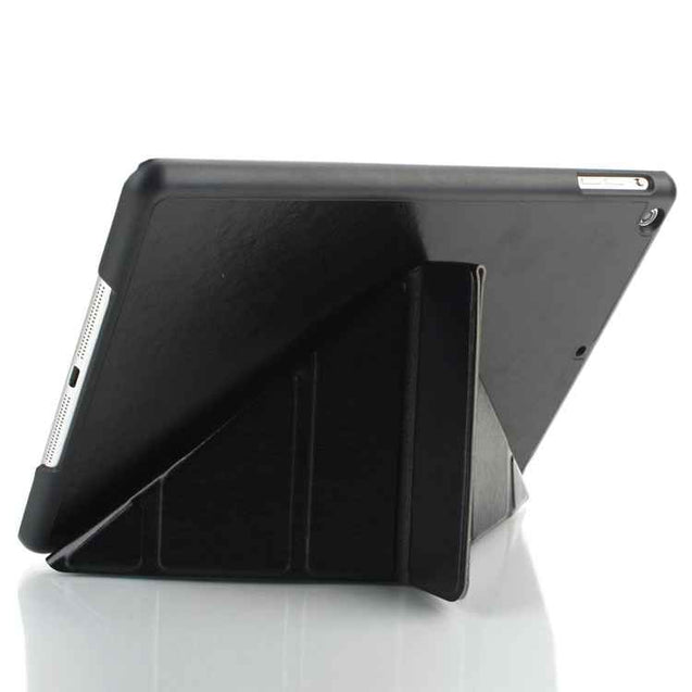 PTron Luxury Transformable Stand Crazy Horse PU Leather Flip Cover Case for iPad Air iPad 5 Black