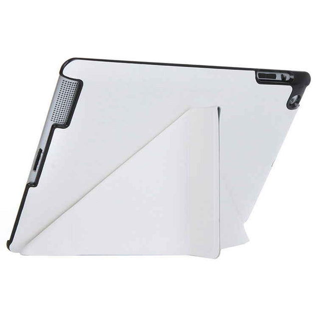PTron Luxury Transformable Stand Crazy Horse PU Leather Flip Cover Case for iPad Air iPad 5 White